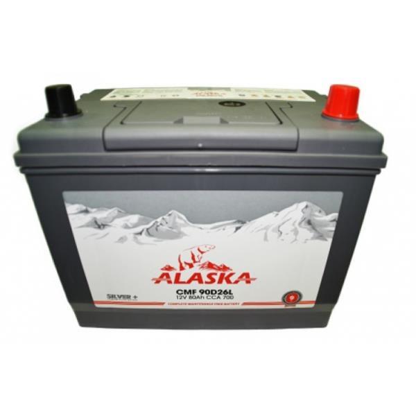 Аккумулятор ALASKA CMF 257 / 172 / 220, 80А / ч, ССА 700А, Обр. 90D26FL silver+ 8808240010702 купить в Абакане