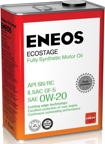 Моторное масло Масло моторное ENEOS Ecostage SN Синтетика 0W20 4л 8801252022022 купить в Абакане