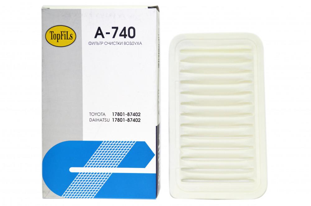 Фильтр воздушный TOP FILS A-740 17801-87402 A-740 купить в Абакане