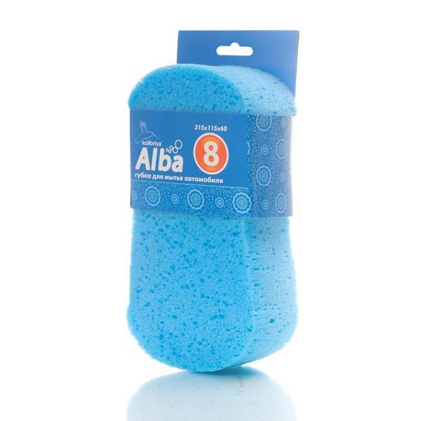 Губка для мытья а / м KOLIBRIYA Alba- 8 Фигурная Восьмерка, 215х115х60мм (пористая) (1 / 100) AL-0015 купить в Владивостоке