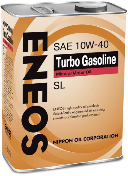Моторное масло Масло моторное ENEOS Turbo Gasoline SL Минерал 10W40 4л oil1442 купить в Абакане