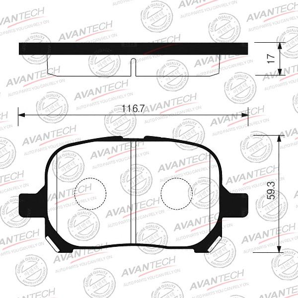 Колодки тормозные дисковые Avantech - AV1000 AV1000 купить в Абакане