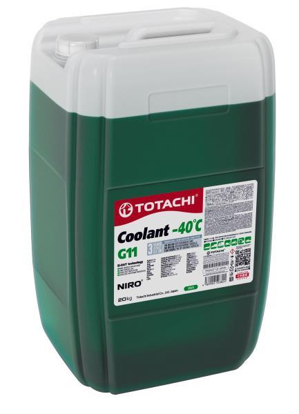 Охлаждающая Жидкость TOTACHI NIRO Coolant Green -40C G11 20кг 4589904526824 купить в Абакане