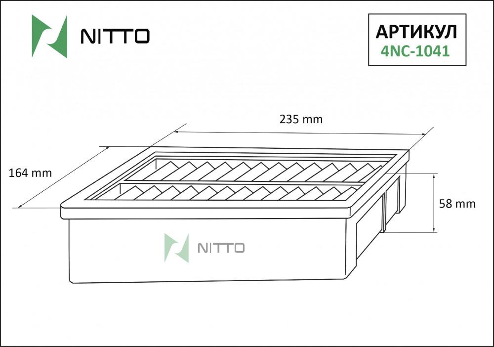 Фильтр воздушный Nitto 4NC-1041 4NC-1041 купить в Абакане