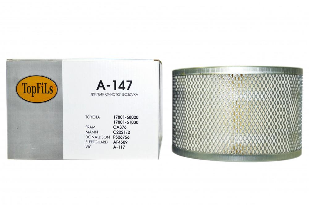Фильтр воздушный TOP FILS A-147 17801-68020 A-147 купить в Абакане