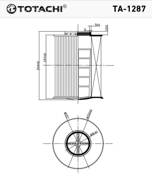 Фильтр воздушный TOTACHI TA-1287 7M519601AC MANN C 16 134 / 1 TA-1287 купить в Абакане