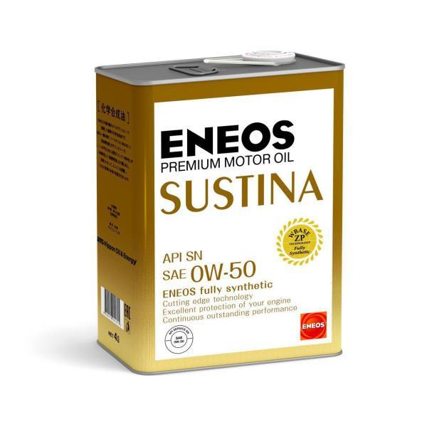Моторное масло Масло моторное ENEOS SUSTINA SN Синтетика 0W-50 4л 4943589134598 купить в Абакане