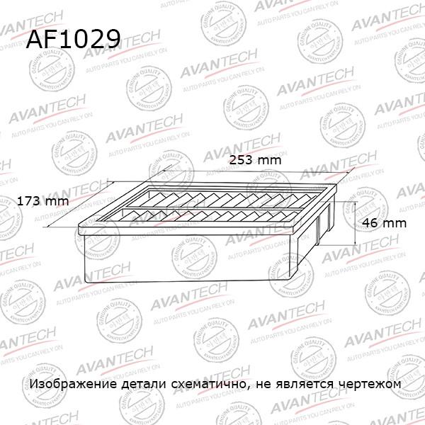 Фильтр воздушный Avantech-AF1029 AF1029 купить в Абакане