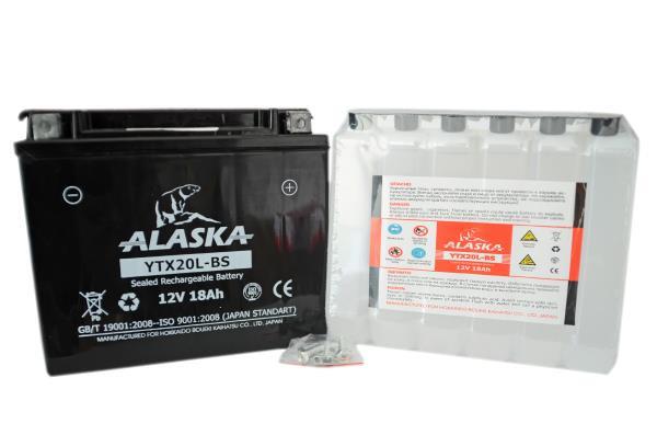 Аккумуляторная батарея ALASKA 18АЧ YTX20L-BS 12V YTX20L-BS купить в Абакане