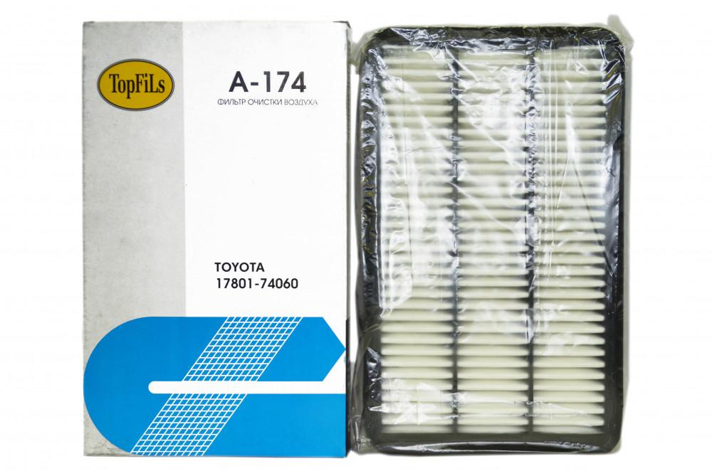 Фильтр воздушный TOP FILS A-174 17801-74060 A-174 купить в Абакане