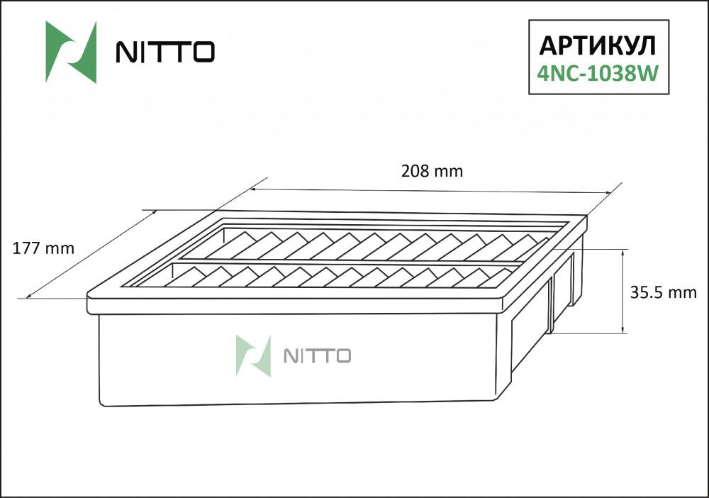 Фильтр воздушный Nitto 4NC-1038W 4NC-1038W купить в Абакане