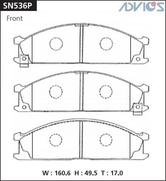 Дисковые тормозные колодки ADVICS SN536P SN536P купить в Абакане