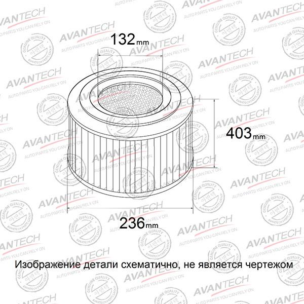 Фильтр воздушный Avantech-AF0517 AF0517 купить в Абакане
