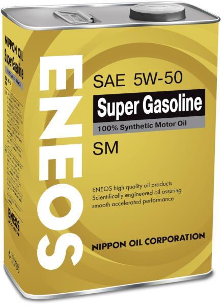 Моторное масло Масло моторное ENEOS Super Gasoline SM Синтетика 5W50 4л oil4074 купить в Абакане