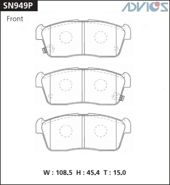 Дисковые тормозные колодки ADVICS SN949P SN949P купить в Абакане