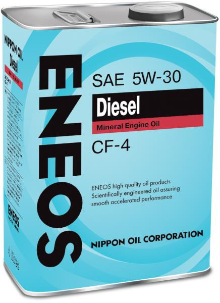 Моторное масло Масло моторное ENEOS Diesel CF-4 Минерал 5W30 4л 01000004 купить в Абакане
