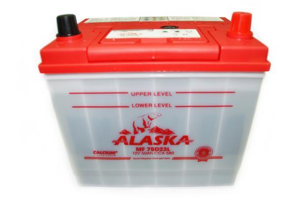 Аккумулятор ALASKA MF 230 / 172 / 220, 60А / ч, ССА 580А, Обслуж-й, Обр. 75D23L calcium + 8808240010481 купить в Абакане