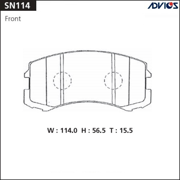 Дисковые тормозные колодки ADVICS SN114 SN114 купить в Абакане