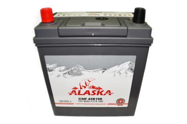 Аккумуляторная батарея ALASKA CMF 187 / 127 / 220, 40А / ч, ССА 380А, Прям. 42B19R silver+ 8808240010405 купить в Барнауле