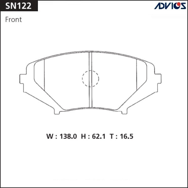 Дисковые тормозные колодки ADVICS SN122 SN122 купить в Абакане