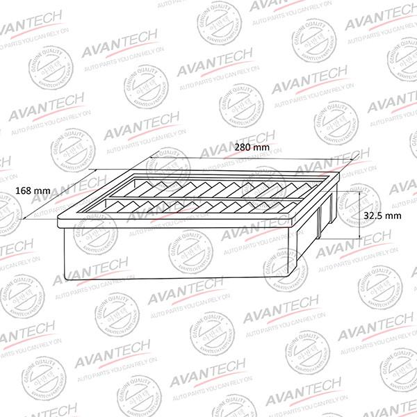 Фильтр воздушный Avantech (с пропиткой)-AF0229W AF0229W купить в Абакане