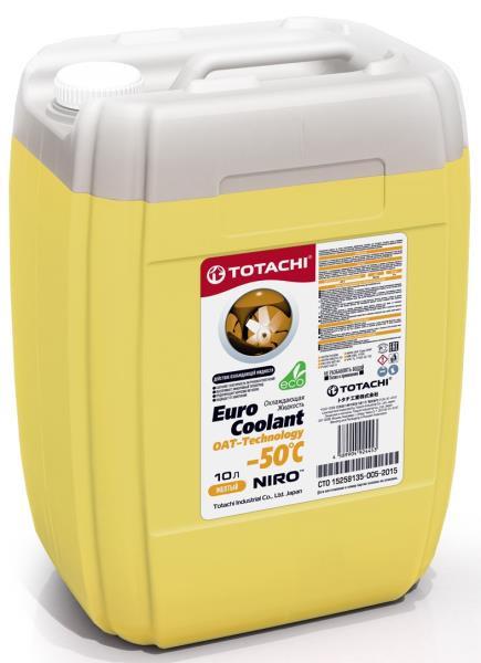 Охлаждающая жидкость TOTACHI NIRO EURO COOLANT -50°C Карбоксилатн. 10л 4589904924453 купить в Абакане
