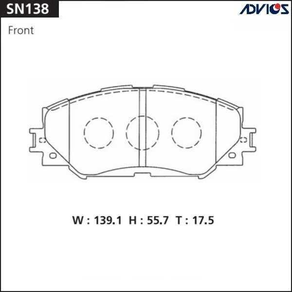 Дисковые тормозные колодки ADVICS SN138 SN138 купить в Абакане