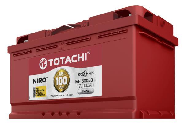 Аккумулятор TOTACHI NIRO MF 60038, 100а / ч L 4589904925436 купить в Абакане