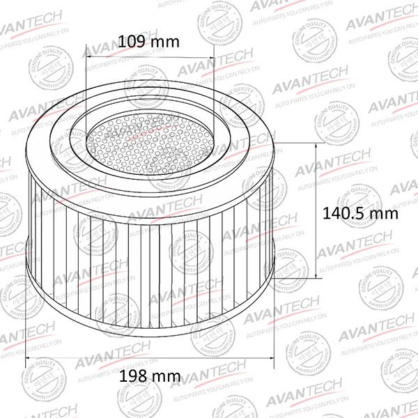 Фильтр воздушный Avantech-AF0145 AF0145 купить в Абакане