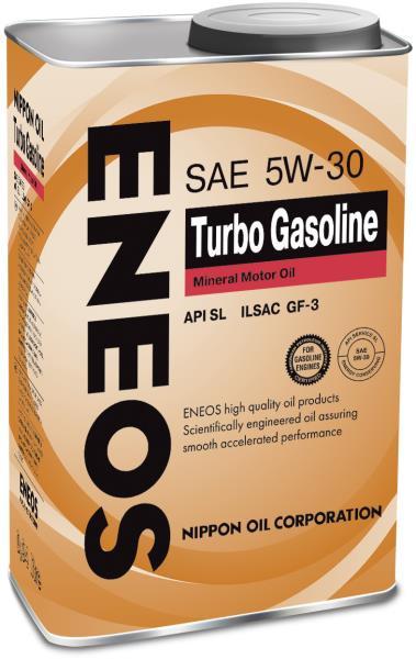 Моторное масло Масло моторное ENEOS Turbo Gasoline SL Минерал 5W30 0, 94л 01000156 купить в Абакане
