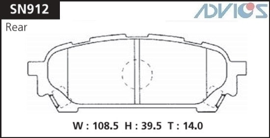 Дисковые тормозные колодки ADVICS SN912 SN912 купить в Абакане