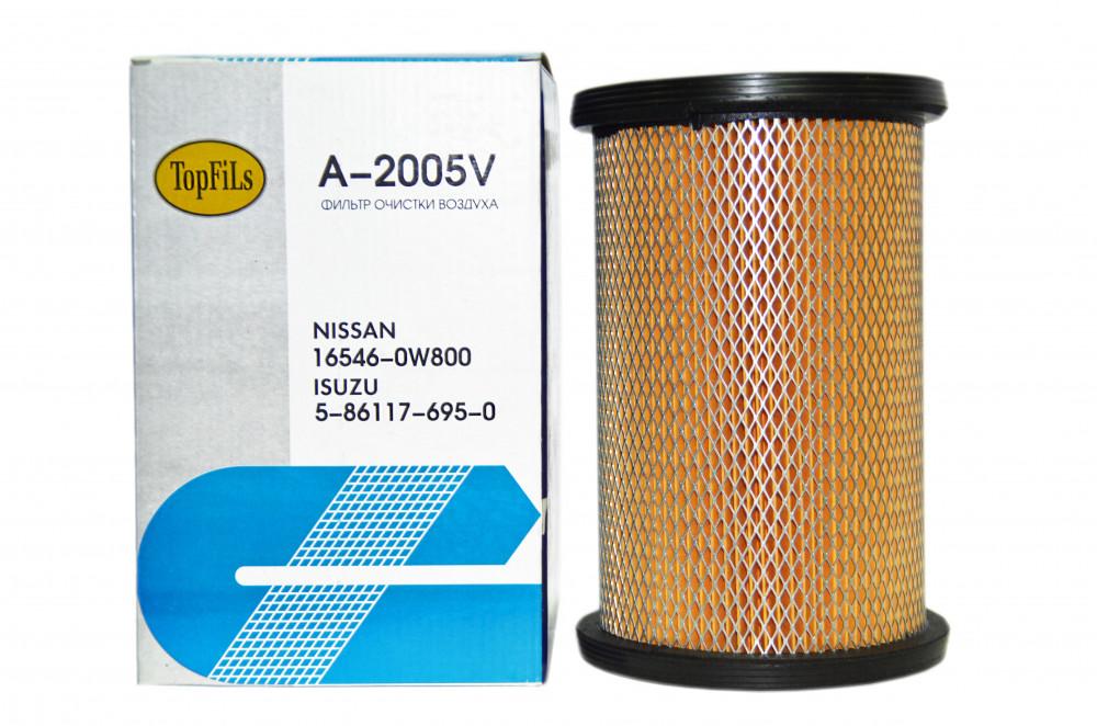 Фильтр воздушный TOP FILS A-2005 V 16546-0W800 A-2005V купить в Абакане