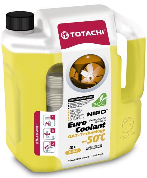 Охлаждающая жидкость TOTACHI NIRO EURO COOLANT -50°C Карбоксилатн. 2л 4589904924101 купить в Барнауле