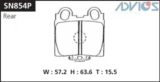 Дисковые тормозные колодки ADVICS SN854P SN854P купить в Абакане