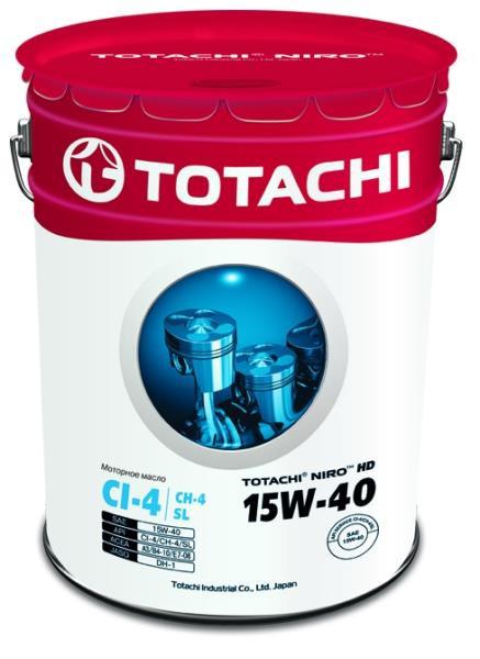 Моторное масло Масло моторное TOTACHI NIRO HD CI-4 / CH-4 / SL минерал. 15W-40 19л 4589904921582 купить в Абакане