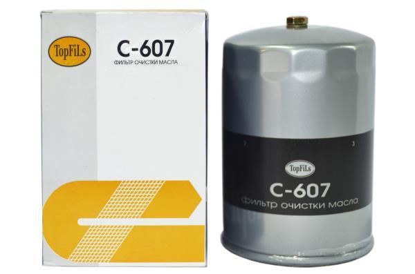 Фильтр масляный TOP FILS C-607 15607-2210 C-607 купить в Абакане