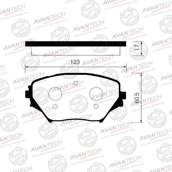 Колодки тормозные дисковые Avantech - AV261 AV261 купить в Абакане