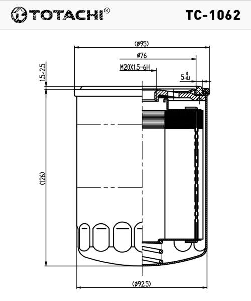 Фильтр масляный TOTACHI TC-1062 C-411 SL50-14-V61 TC-1062 купить в Абакане
