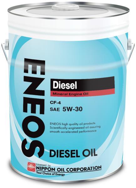 Моторное масло Масло моторное ENEOS Diesel CF-4 Минерал 5W30 20л 01000002 купить в Абакане