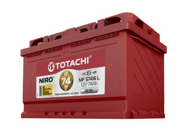 Аккумулятор TOTACHI NIRO MF 57416, 74а / ч L, низкий корпус 4589904925573 купить в Абакане