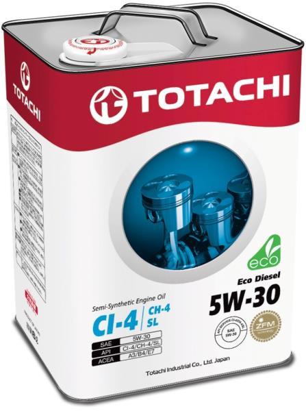 Моторное масло Масло моторное TOTACHI Eco Diesel CI-4 / CH-4 / SL псинт 5W30 6л 4562374690486 купить в Абакане