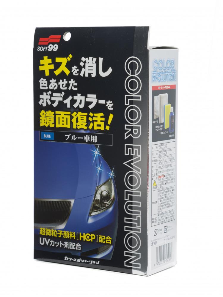 Полироль для кузова цветовосстанавливающий Soft99 Color Evolution Blue для синих, 100 мл 00504 купить в Абакане