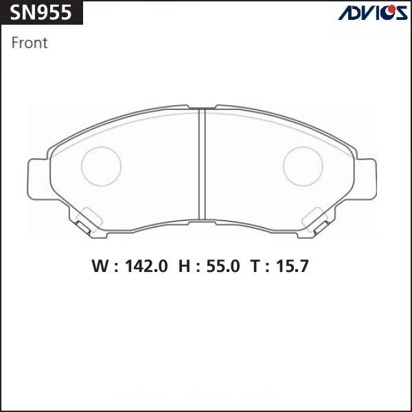Дисковые тормозные колодки ADVICS SN955 SN955 купить в Абакане
