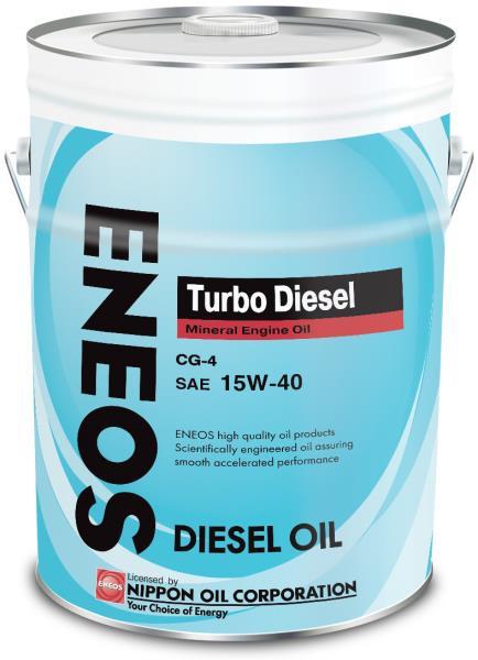 Моторное масло Масло моторное ENEOS Turbo Diesel CG-4 Минерал 15W40 20л oil1429 купить в Абакане