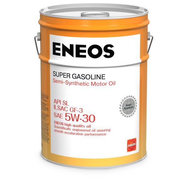 Моторное масло Масло моторное ENEOS Super Gasoline SL псинт 5W30 20л oil1360 купить в Абакане