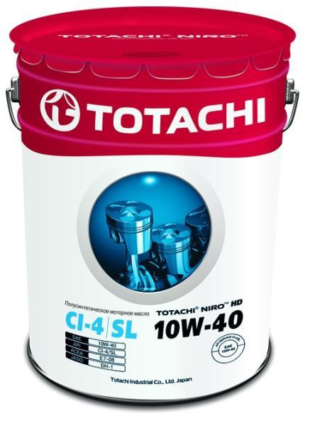 Моторное масло Масло моторное TOTACHI NIRO HD Semi-Synthetic API CI-4 / SL 10W-40 19л 4589904921667 купить в Абакане
