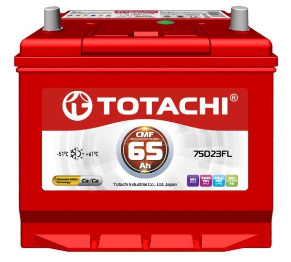 Аккумуляторная батарея TOTACHI KOR CMF 65 а / ч 75D23 FL 4589904524271 купить в Абакане
