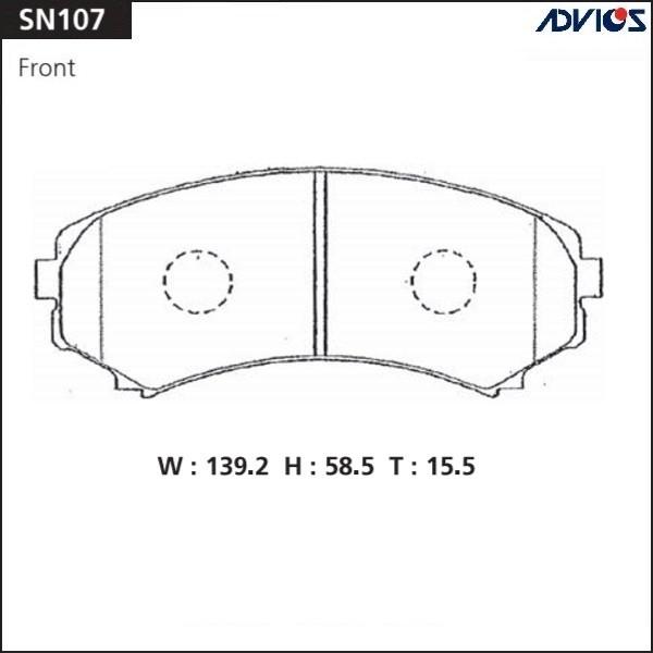 Дисковые тормозные колодки ADVICS SN107 SN107 купить в Абакане