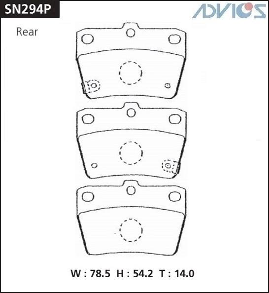 Дисковые тормозные колодки ADVICS SN294P SN294P купить в Абакане