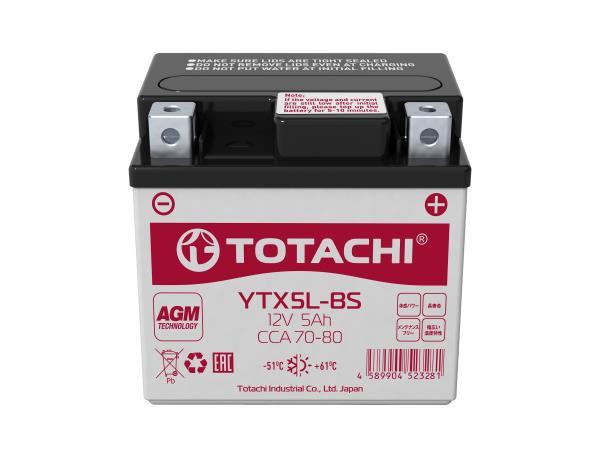 Аккумуляторная батарея TOTACHI CMF 5 а / ч YTX5L-BS L AGM 4589904523281 купить в Абакане